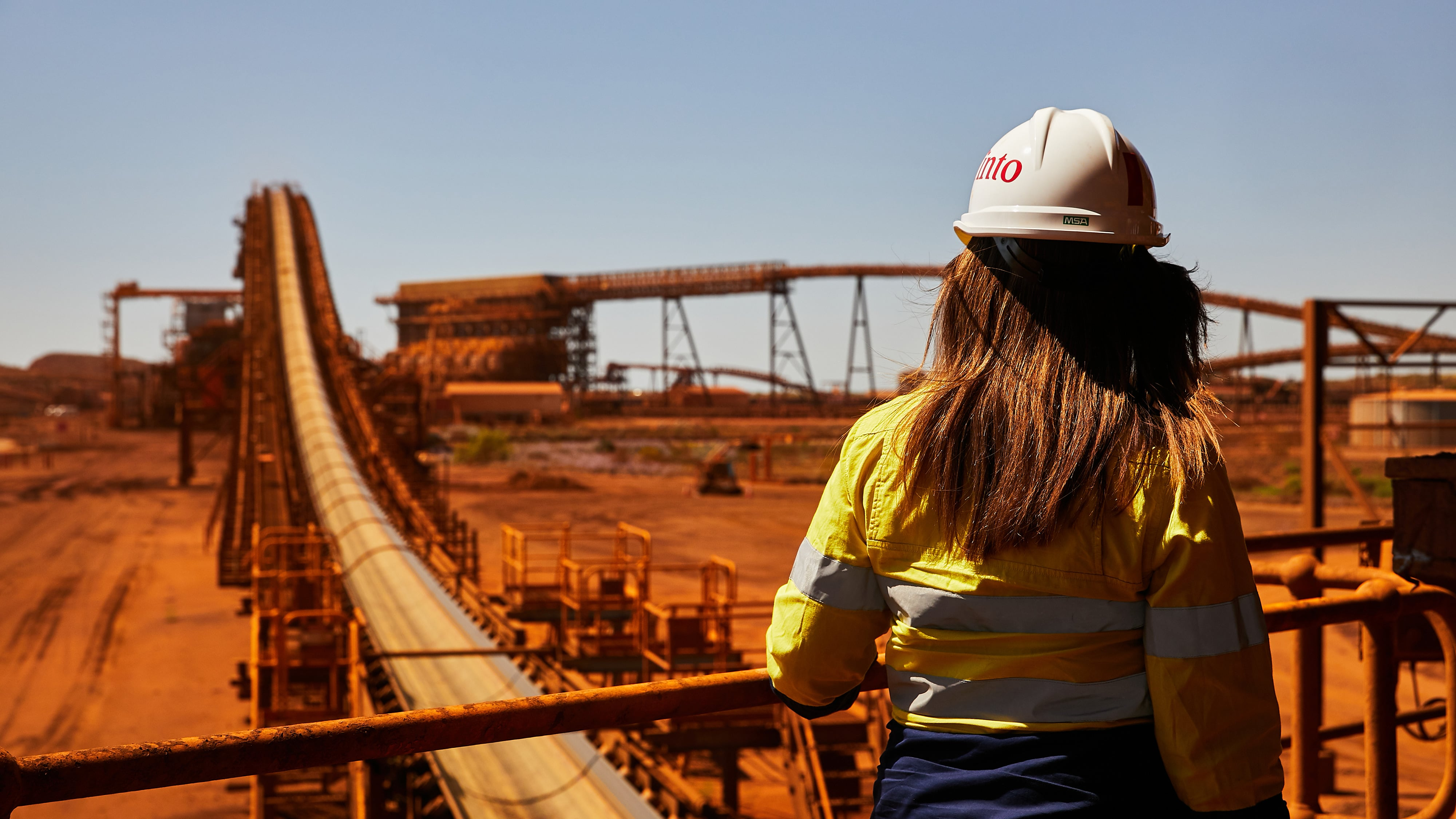 Employee at Cape Lambert, Pilbara