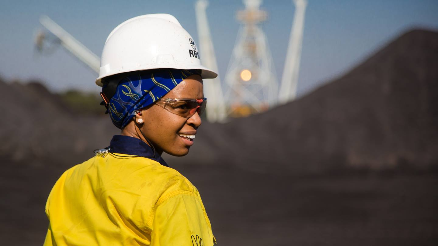 Employee at Richards Bay Minerals