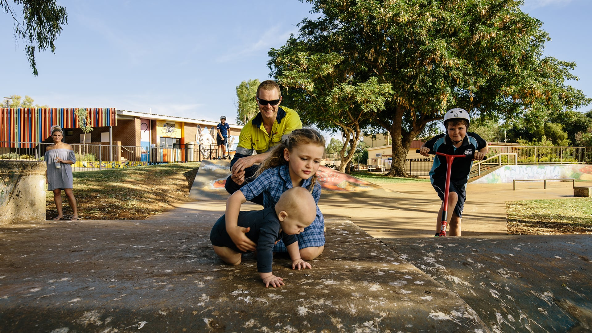 Family in the Pilbara community