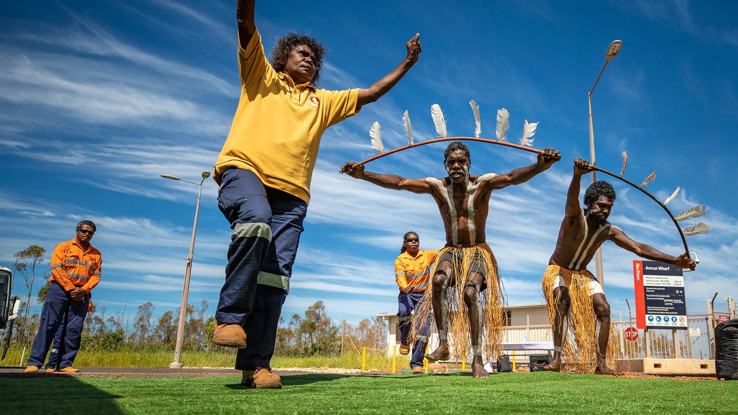 Aboriginal traditional dancers, Weipa