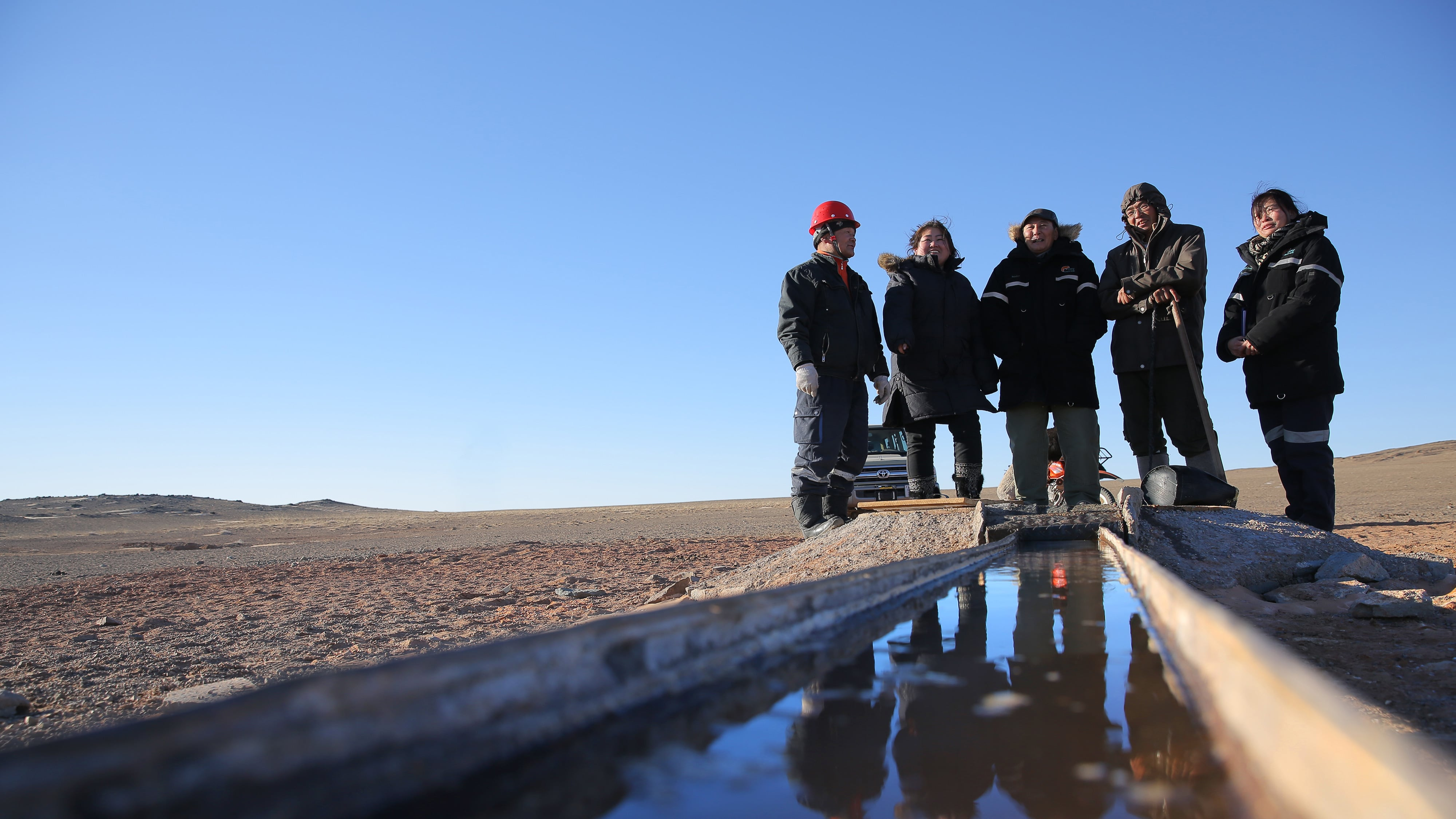 Water resources in the southern Gobi desert