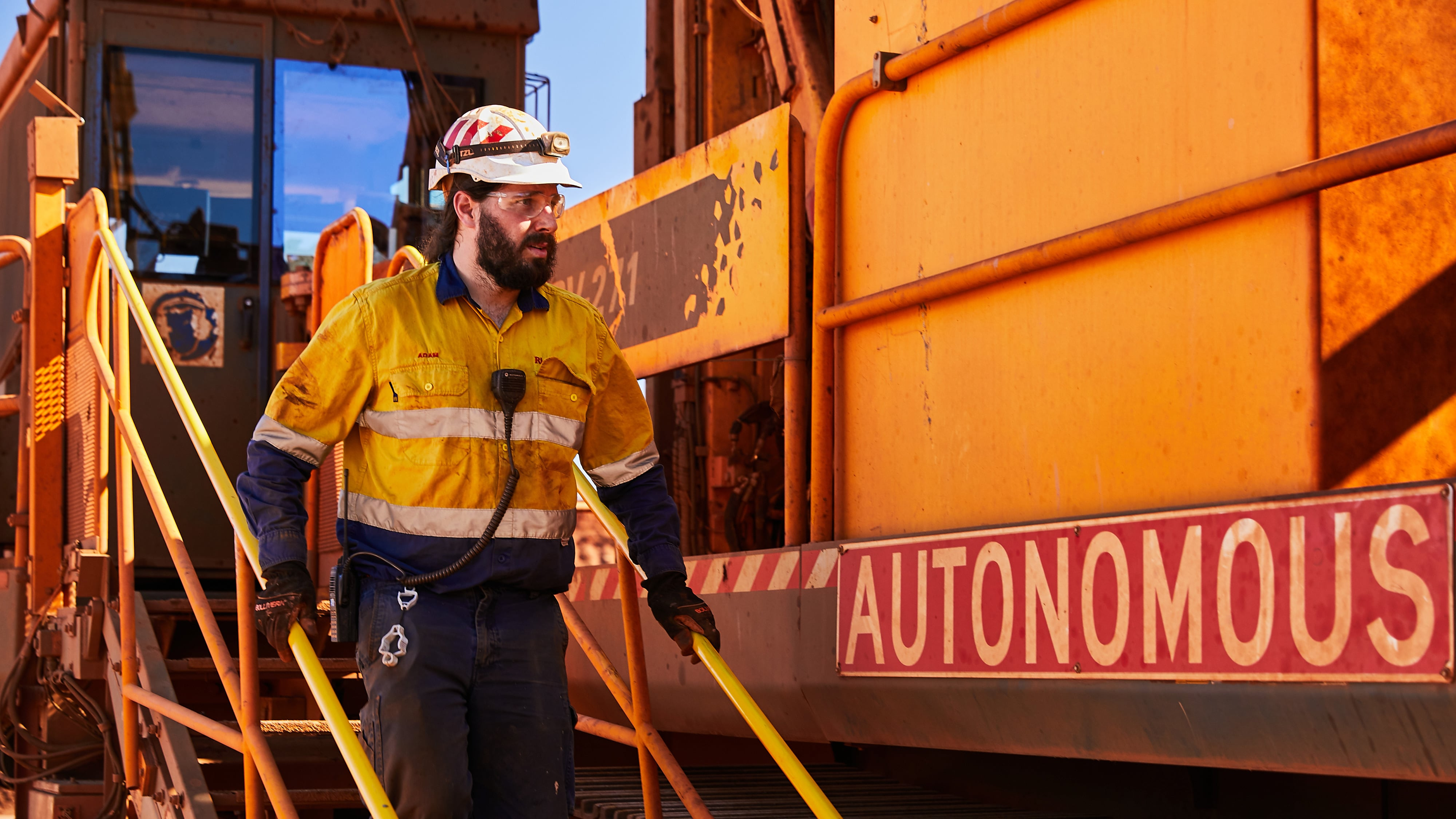 Autonomous vehicle in the Pilbara