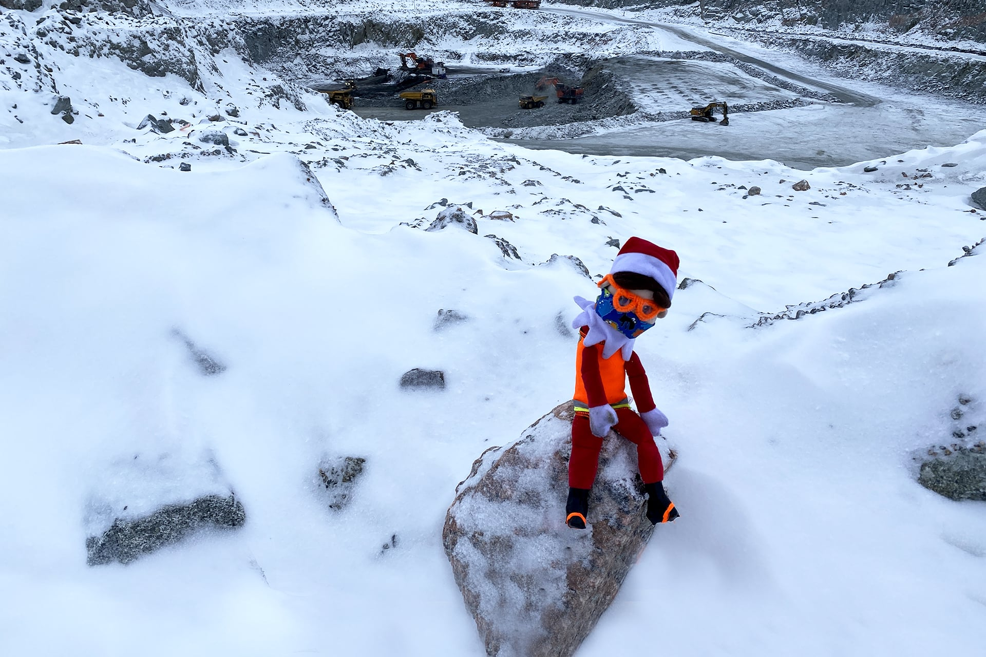 Meet Nugget: One curious elf goes on an adventure at our Diavik Diamond Mine